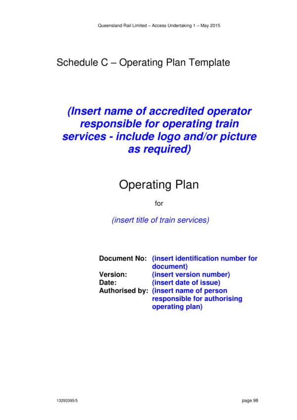 printable operating plan template 01