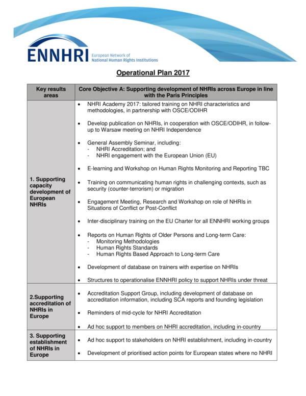 printable operational plan sample 1
