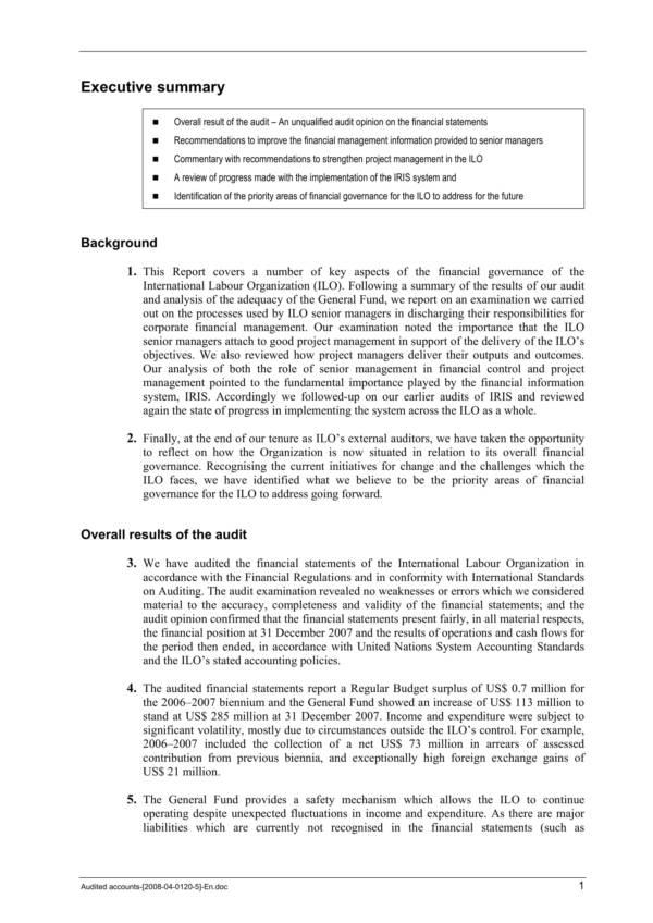 free 11  external audit report samples  u0026 template in pdf