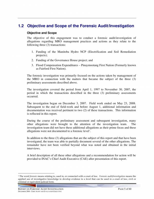 report on forensic audit investigation 09