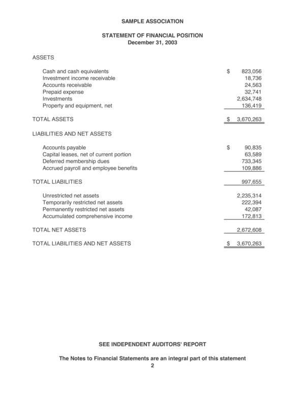 sample association audit report 04
