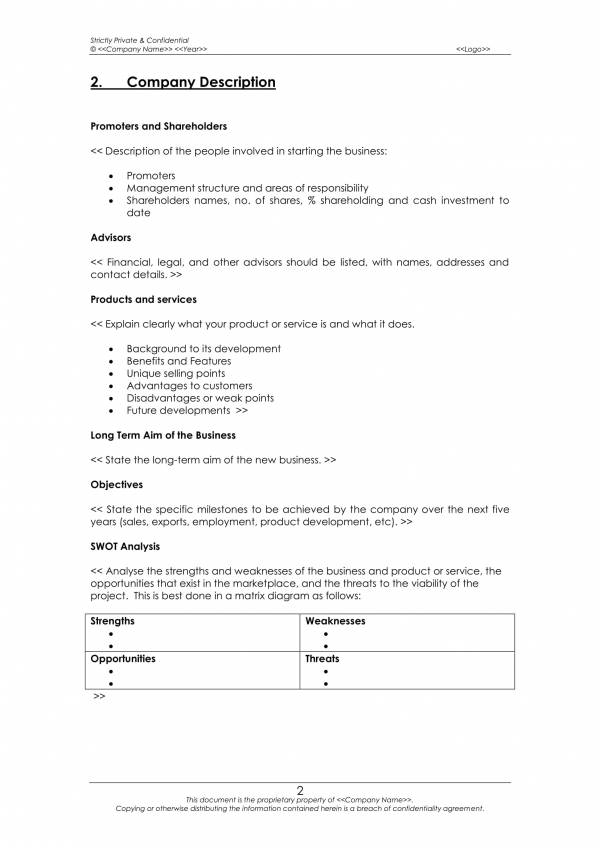 sample business operational plan template 05