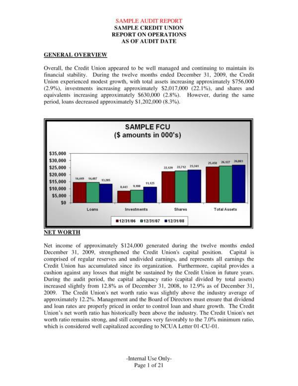 sample credit union audit report 02