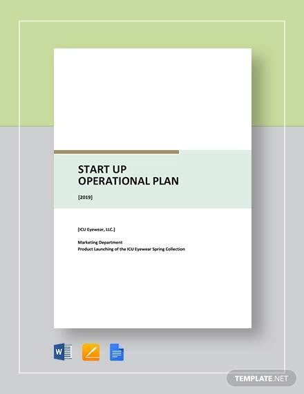 startup operational plan template