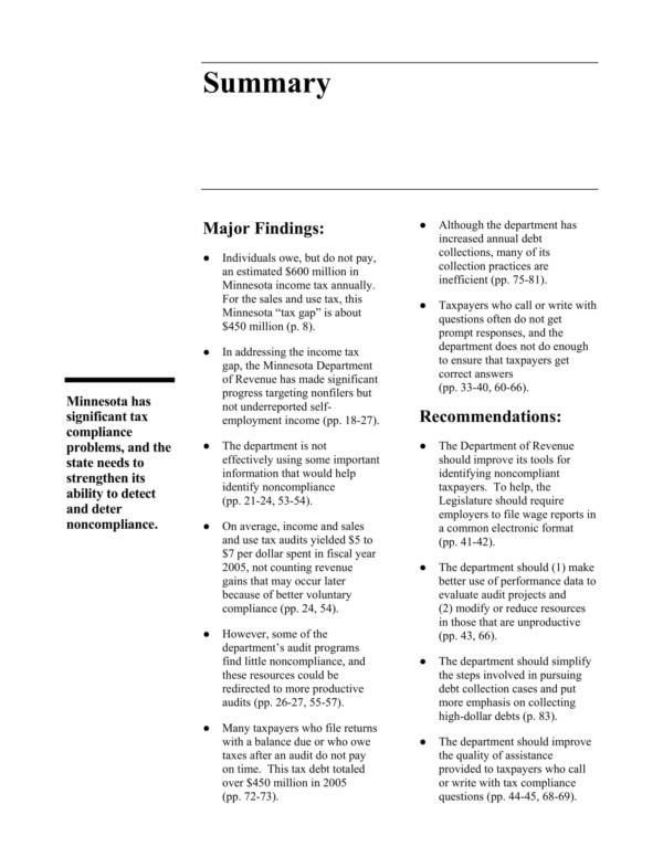 tax compliance auidt report sample 009