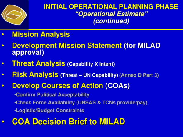 un hq operational planning process for peace 11