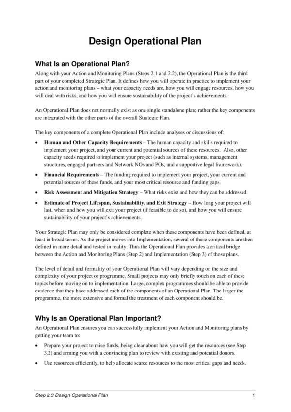 wwf operational plan 03