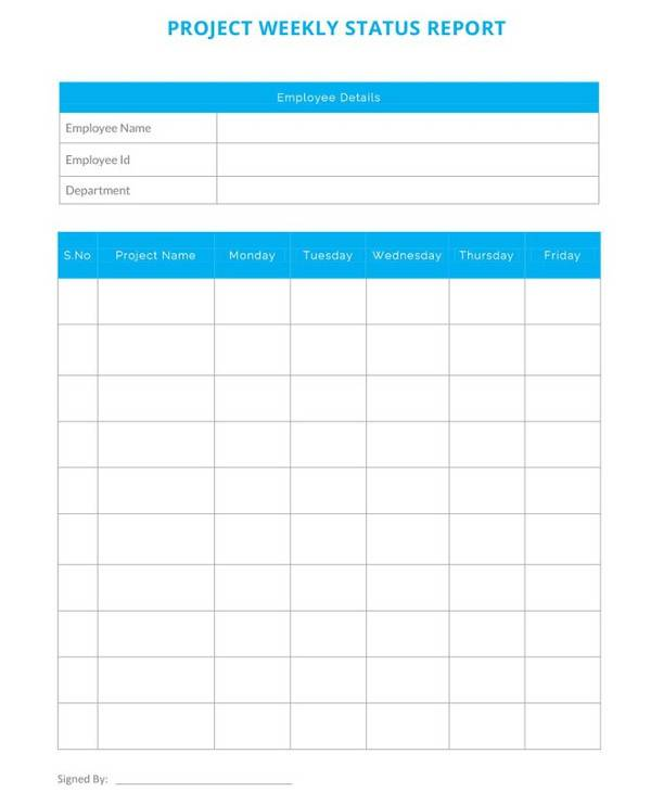 14+ Sample Project Status Reports – PDF, Word, Pages, Portable ...
