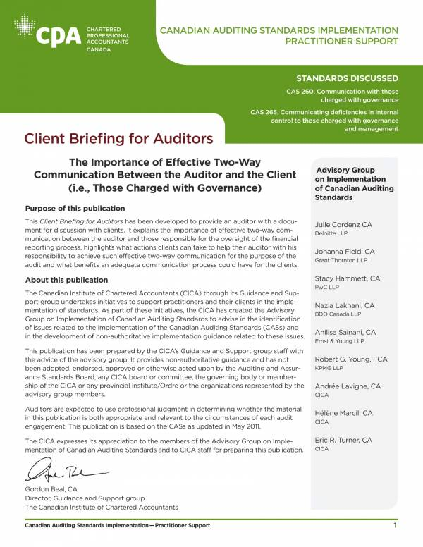 client communication audit report 1