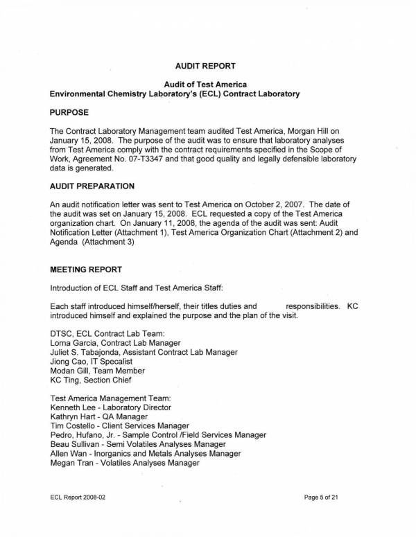 contract laboratory audit report template 05