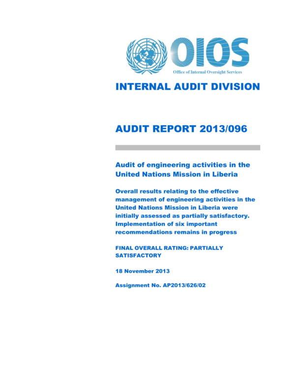 engineering activities audit report 01