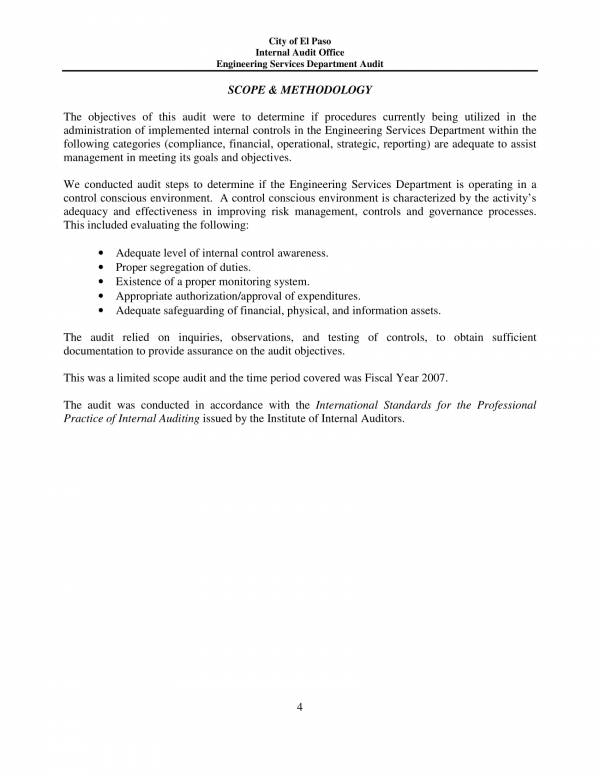 engineering services department audit report 04