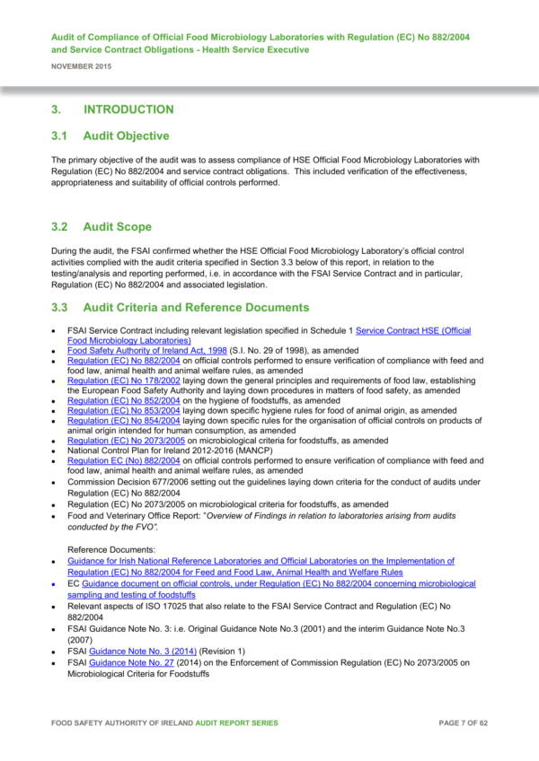 food laboratory audit report template 09