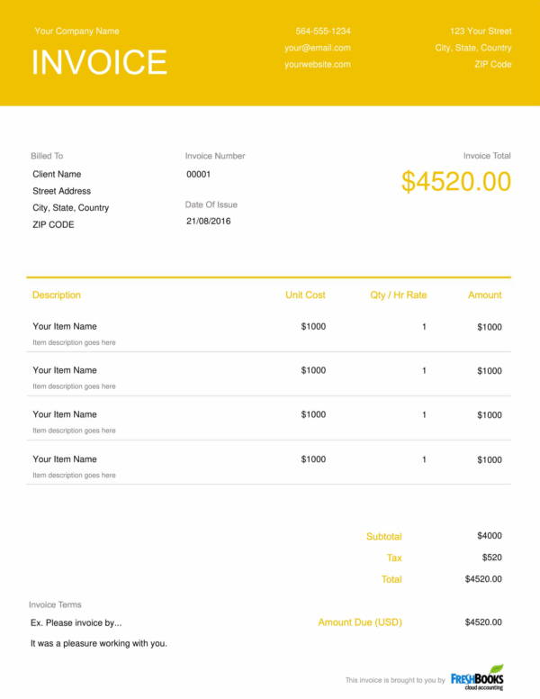 free event planner invoice template 1