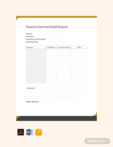 free financial audit report