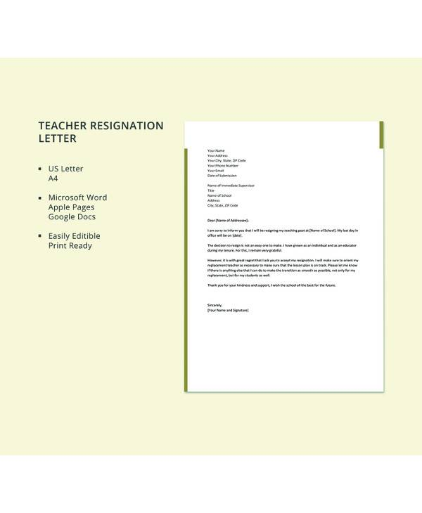 resignation letter format for lecturer pdf 8 sample resignation letters pdf word apple 16085