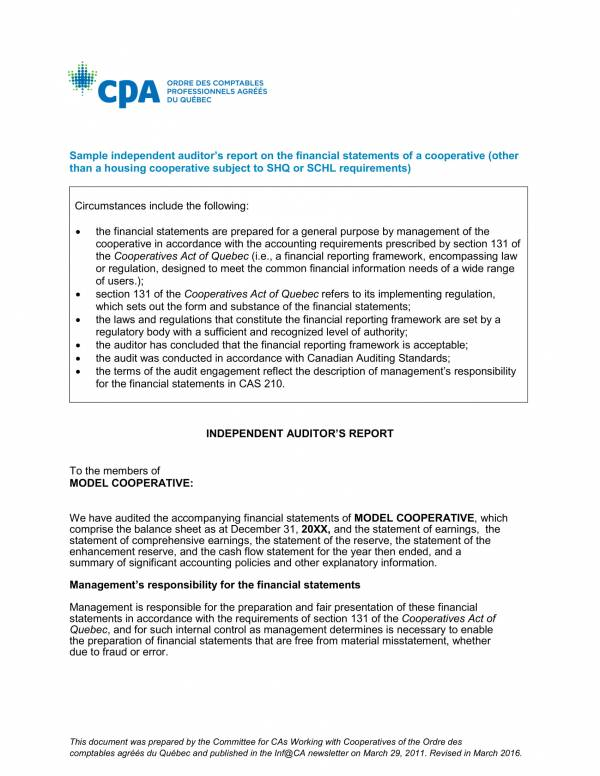 independent auditor's report on financial statements 1