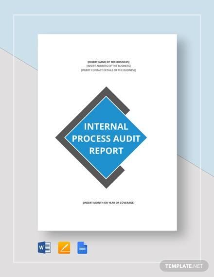 internal process audit report
