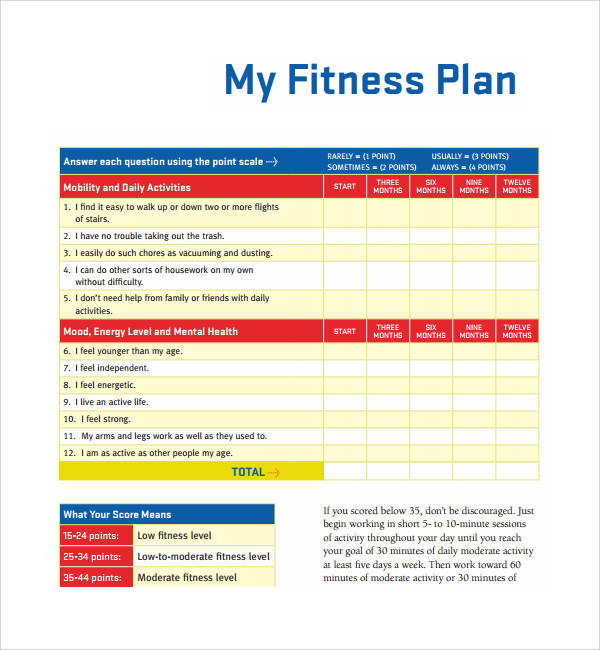 11 workout planner template pdf word sample templates personal fitness planner template maxwellsz