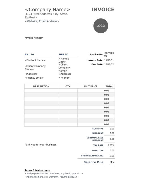 printable dental invoice template 1