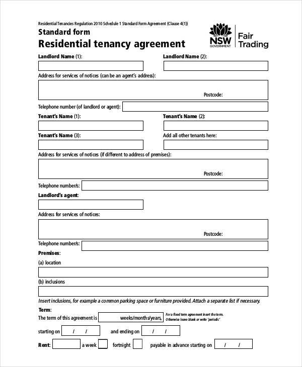 9 Sample Apartment Rental Agreement Templates Pdf Word