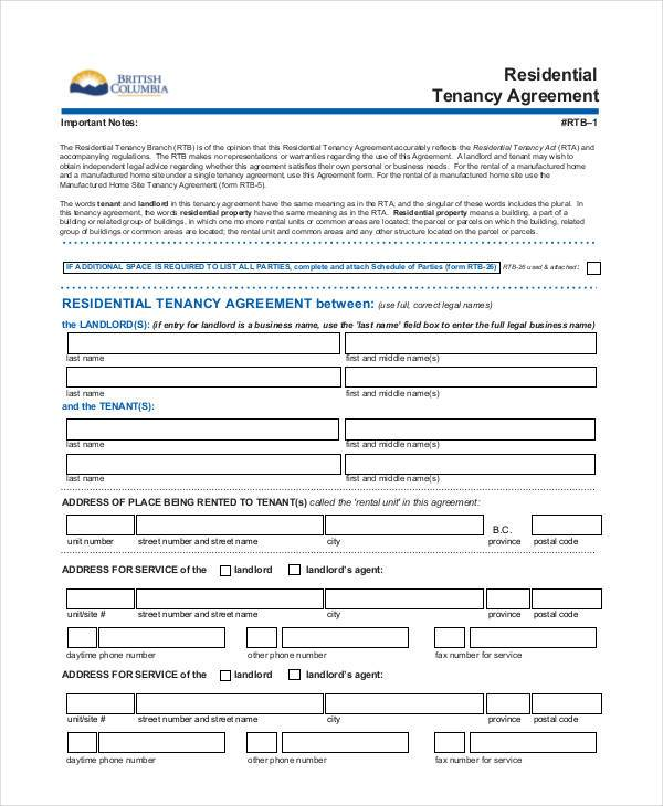 17  rental agreement format samples
