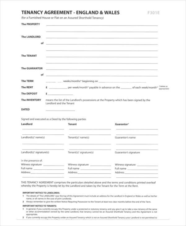 9 Rental Agreement Format Samples Pdf Word Sample Templates