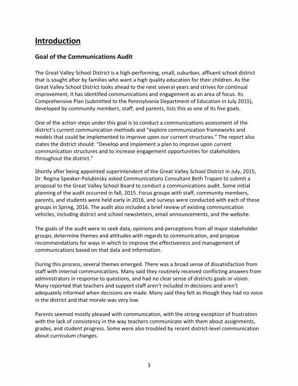 sample communications audit report 03