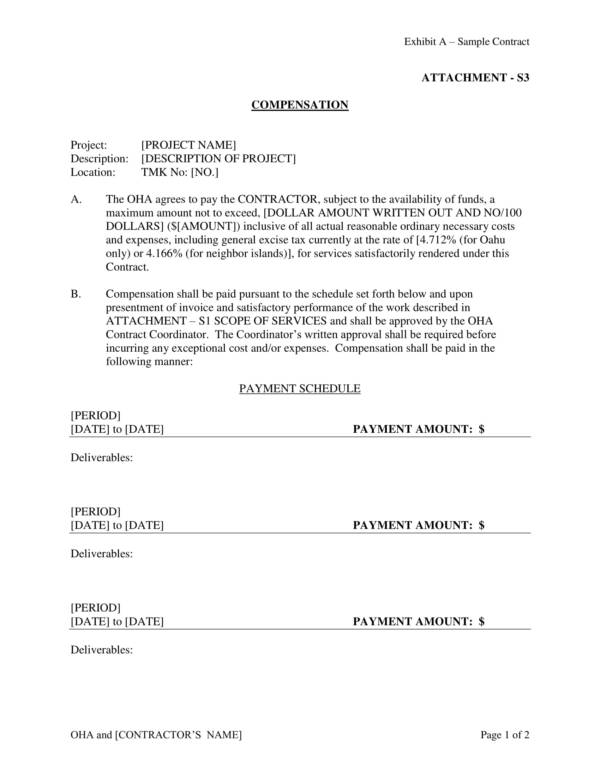 sample employment agreement with compensation details 09