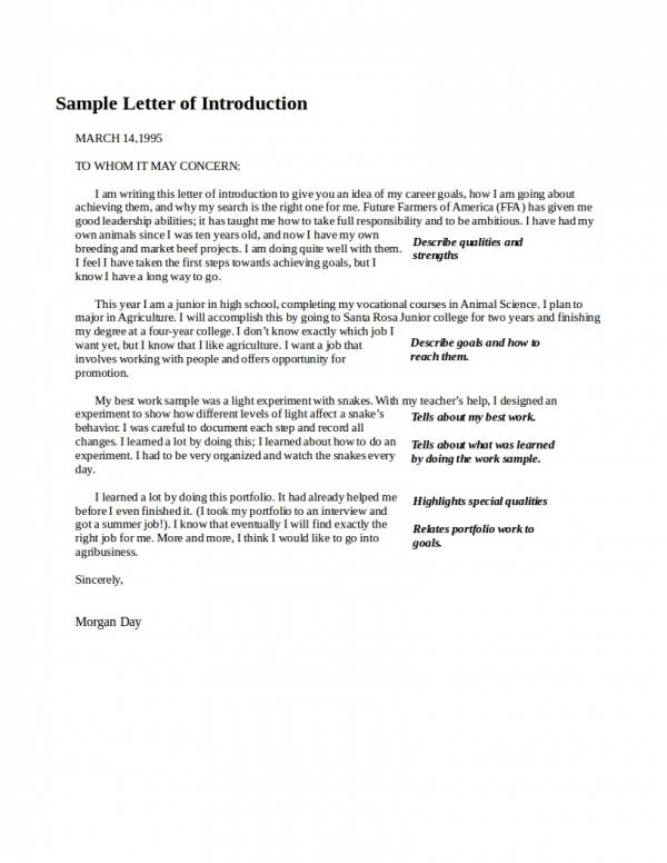 37  introduction letter examples
