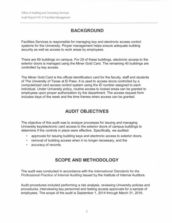 school facilities management audit report 07