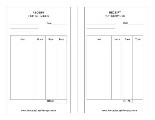 service receipt template 1