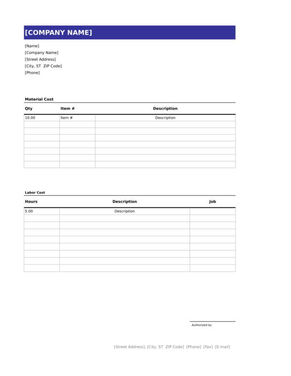 simple handyman invoice template 1