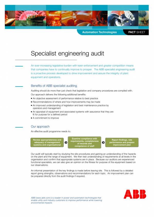 specialist engineering audit report template 1