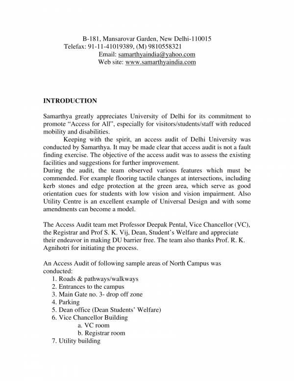 university access audit report sample 02