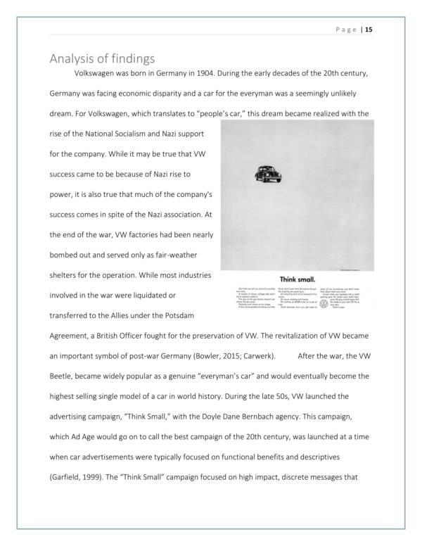 volkswagen brand auit report sample 15
