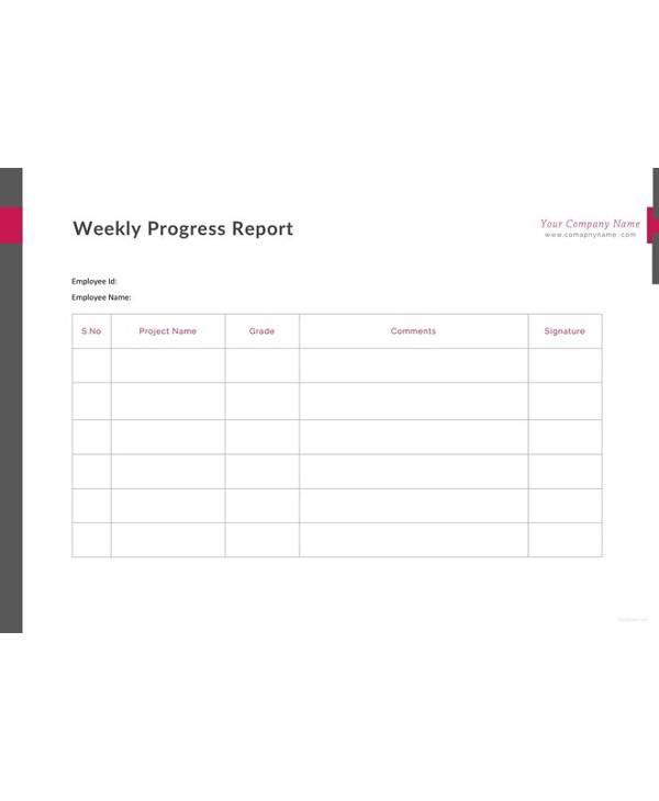 12 sample progress report templates pdf word portable documents