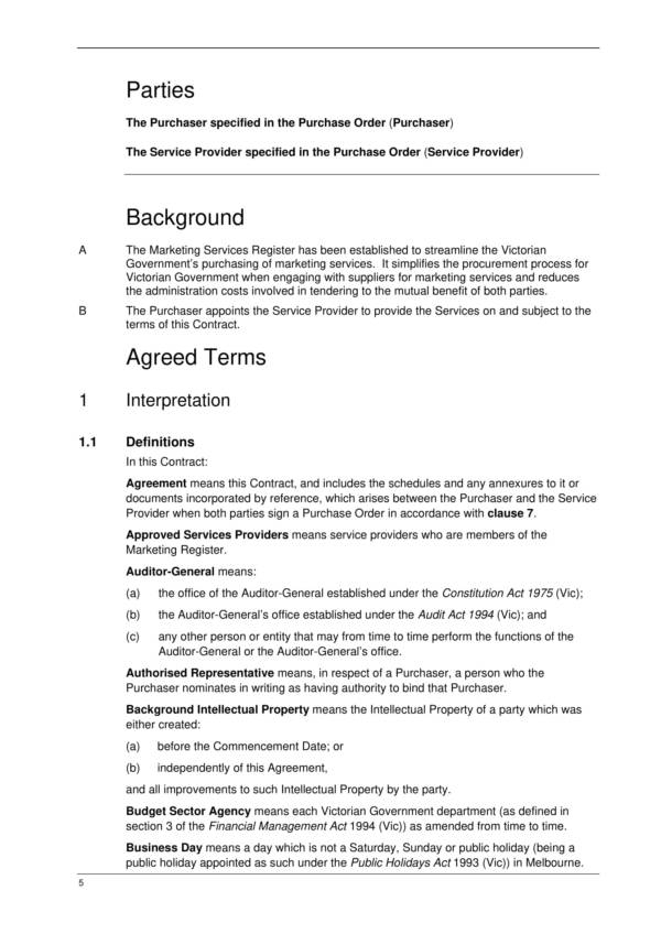 agreement for the provision of marketing and advertising services 05