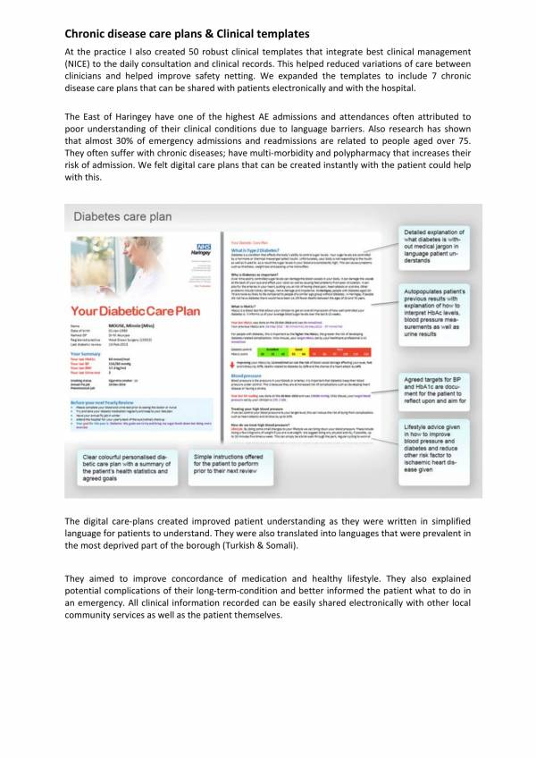 chronic diseases care plan and clinical templates 1
