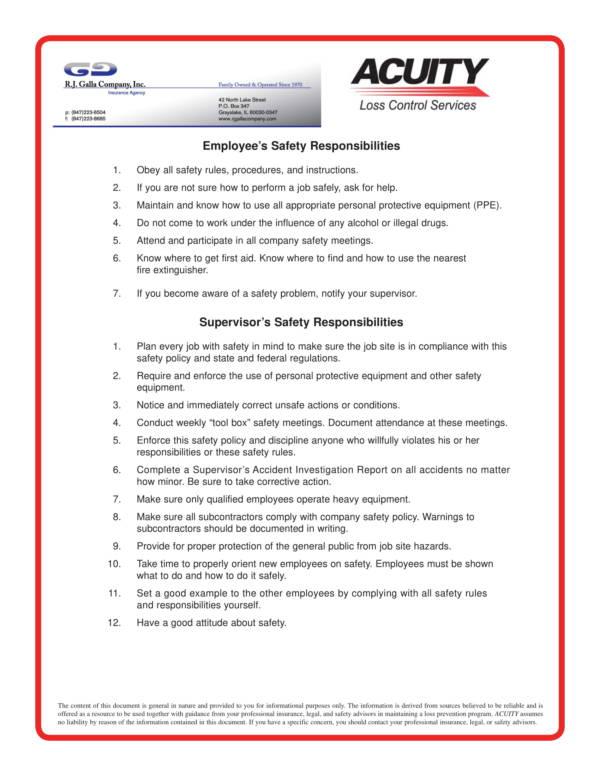 construction sample safety program 3
