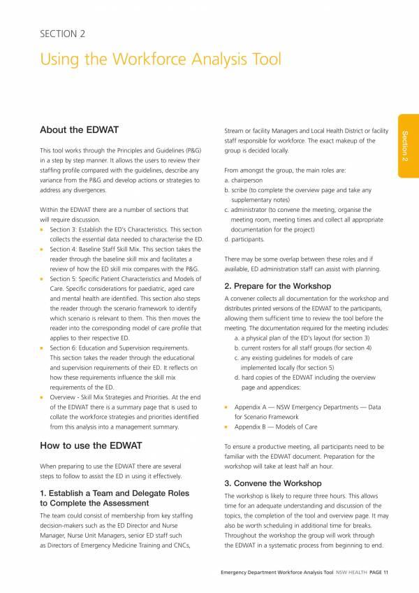emergency department workforce analysis tool 013