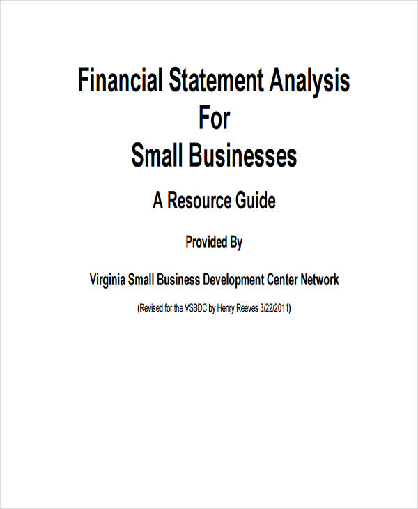 financial statement analysis for small business
