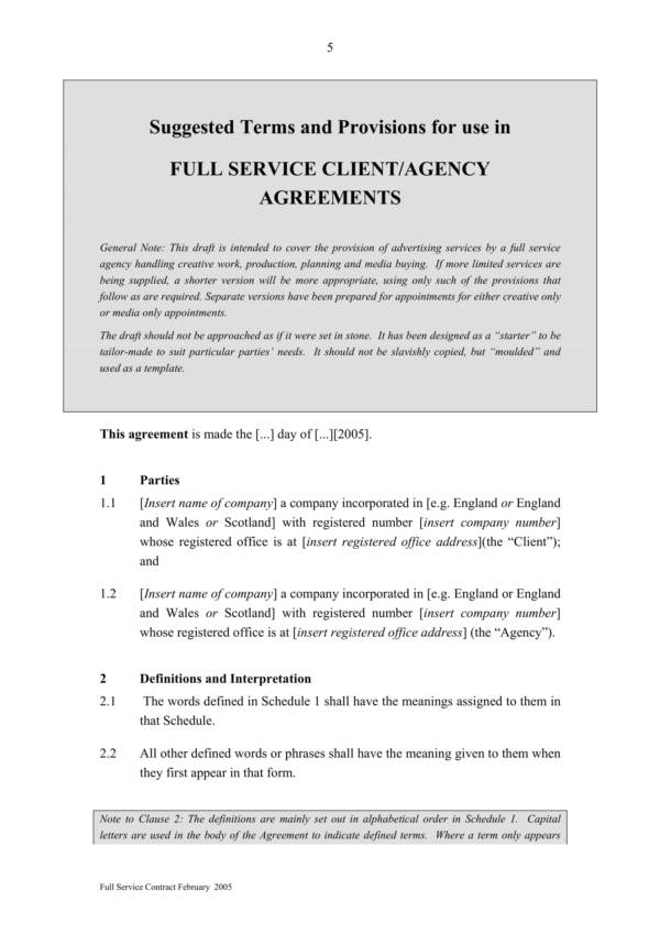 full marketing and advertising service agreement 07