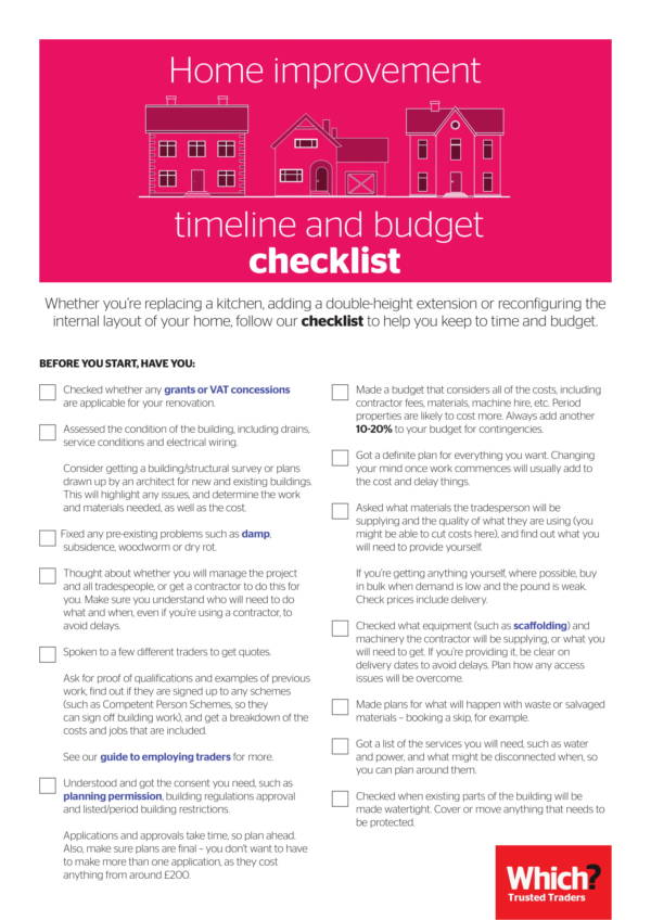 home improvement and renovation plan checklist 1
