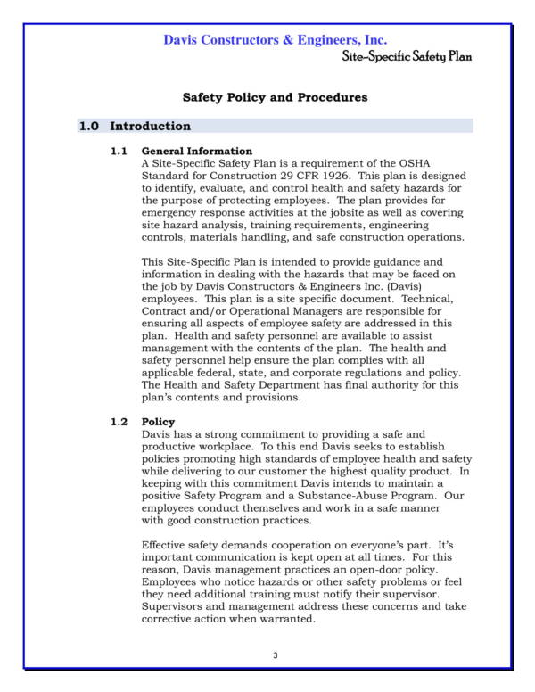 free 14  construction safety plan templates in pdf