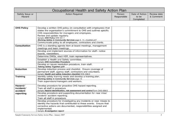 13 Health And Safety Plan Templates Pdf Google Docs Ms Word