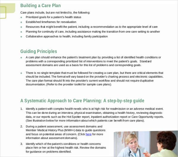 FREE 16+ Patient Care Plan Templates in PDF | Word