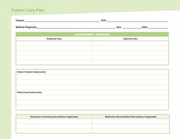 patient care plan template 1