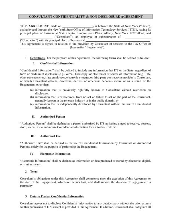 printable confidentiality and non disclosure agreement 1