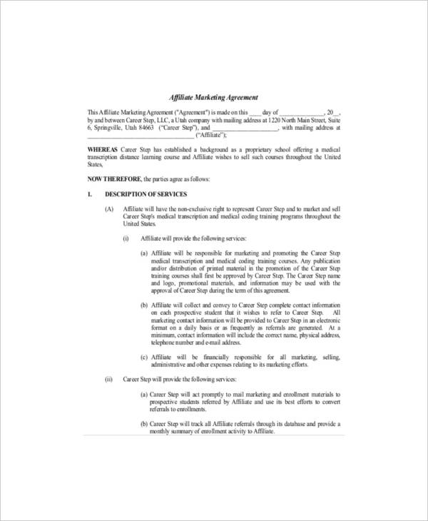 sales and marketing service agreement template